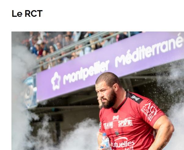 Rugby Club Toulon RCT sponsor SPVIE ASSURANCES